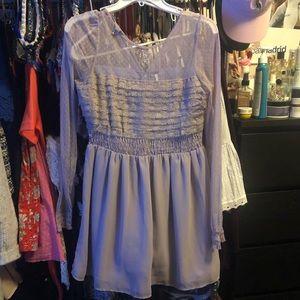 Free People Sheer Lavender Dress